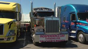 100 Trucking Strike Truck Drivers Parade To DC Strike Over Unsafe Conditions