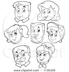 Members Of The Family Clipart Black And White Clipartxtras Coloring Pages