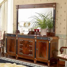 YB10 Luxury French Louis XV Mahogany Buffet Sideboard Cabinet Antique Dining Room With Mirror