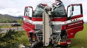 Firefighters Used Hydraulic Rams To Push The Cab And Windscreen Off Driver So They Could