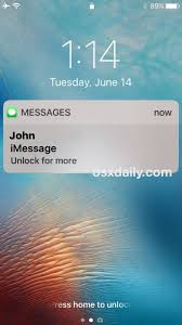 How to Reveal Hidden Message Previews with Touch ID on iPhone Lock