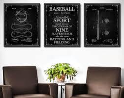 Baseball Wall Decor Set Of 3
