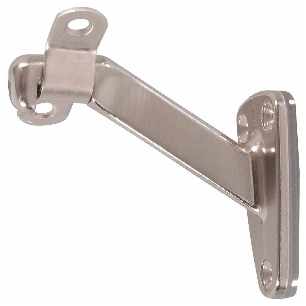 Hillman 851524 Handrail Brackets - Satin Nickel, Heavy Duty