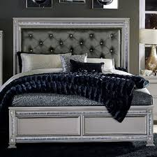 Value City Furniture Tufted Headboard by Homelegance 1958 Glam Queen Headboard And Footboard Bed With