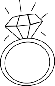 engagement ring clipart black and white
