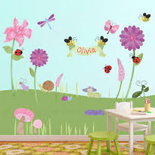Wall Mural Decals Flowers by Bugs U0026 Blossoms Wall Mural Sticker Kit