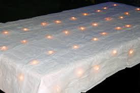 idée déco pour table de fête nappe lumineuse en organza la