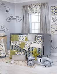 Witty Print In Vintage Avocado, Warm Cream, Light Gray And Royal ... Cstruction Crib Bedding Babies Pinterest Baby Things Grey And Yellow Set Glenna Jean Boy Vintage Car Firefighter Fire Cadet Quilt Olive Kids Trains Planes Trucks Toddler Sheet Monster Graco Truck Runtohearorg Twin Canada Carters 4 Piece Reviews Wayfair Startling Nursery Girls Sets Lamodahome Education 100 Cotton Lorry Cabin Bed With Slide Palm Tree Unique Gliding Cargo Glider Artofmind Info At