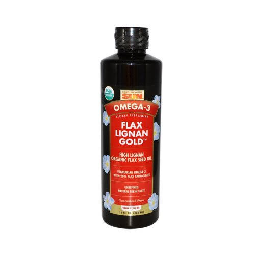 Health From The Sun Organic Flax Lignan Gold Supplement - 16oz