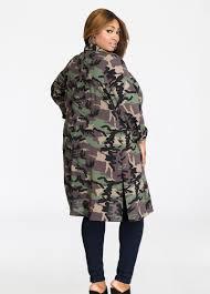 plus size jacket camo print jacket outerwear