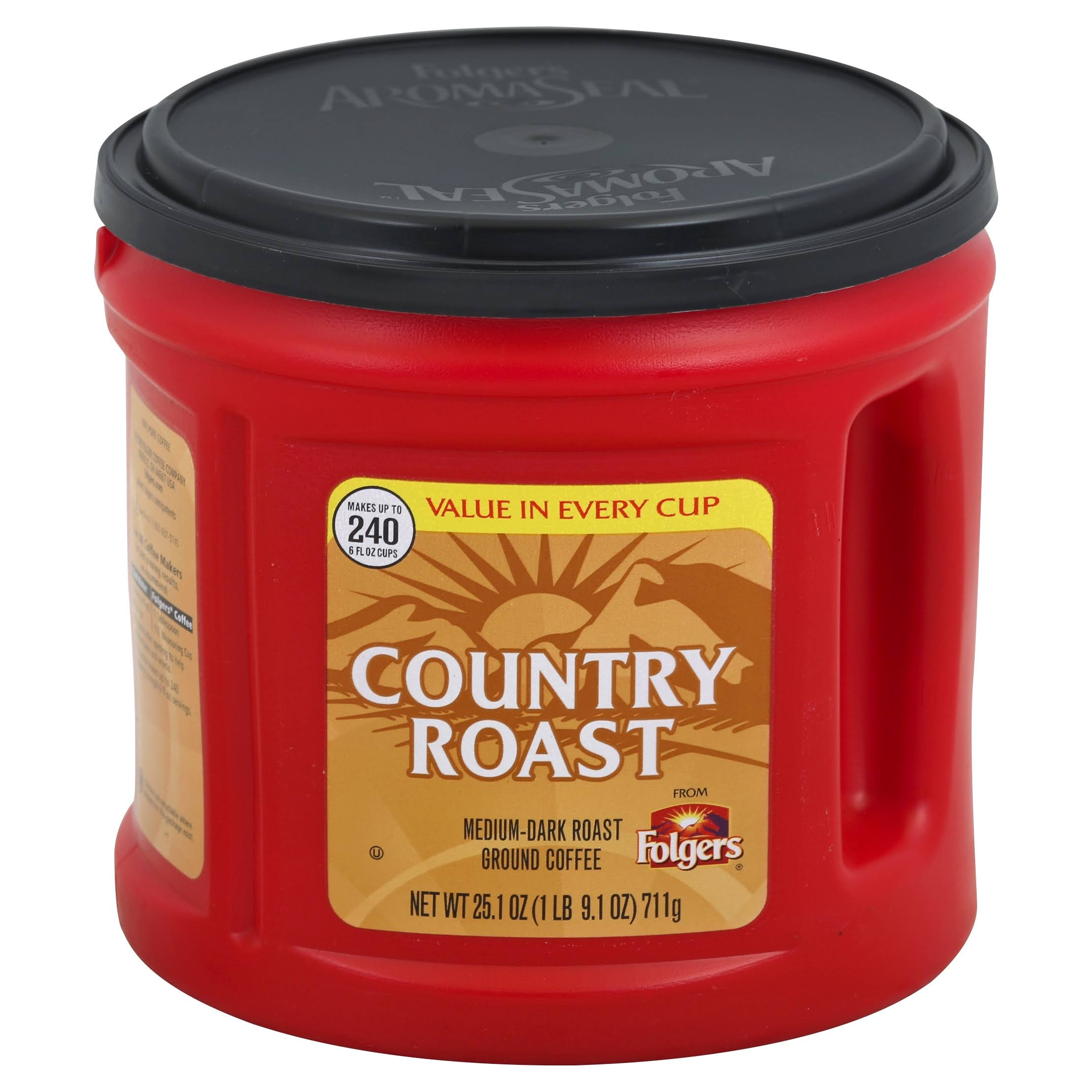 Folgers Country Roast Ground Coffee - 25.1oz