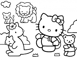 Hello Kitty And Friends Coloring Page For Pages
