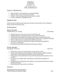 Massage Therapy Resume New Template Best How To Do A Good Examples Of