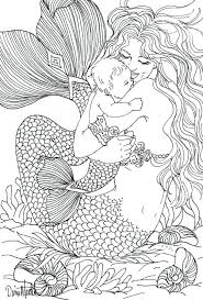 Free Coloring Page Adult Mermaid Child Drawing Printable Pages For Adults Fairies Christmas Nativity Disney Frozen
