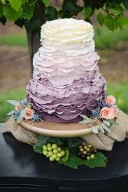 20 Rustic Wedding Cakes For Fall 2015 Tulle Chantilly Purple Ombre Cake