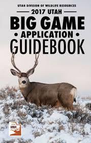 utah big game application guidebook