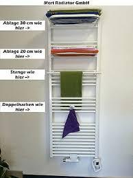 handtuchhalter haken stangen ablagen für badheizkörper in weiss chrom ebay