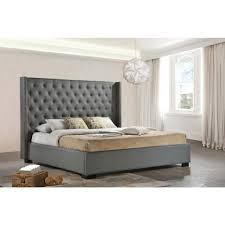bed bed ideas upholstered wingback headboard king 42 interior