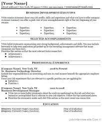 Business Development Resume Thumb