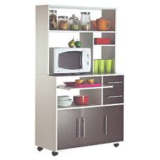 meuble micro onde cuisine meuble micro ondes 3 portes 2 tiroirs cumin blanc wengé