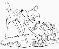 Dibujos Para Colorear Disney Junior Bambi Y Su Amigo Tambor