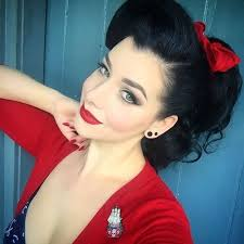 Pin Up Ponytail With A Red Bow