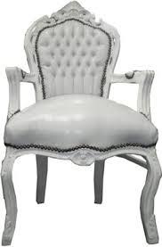 barock esszimmer stuhl mit armlehnen weiß weiß ludwig xiv