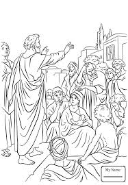 Christianity Bible Saint Peter Jesus In Chains And Passing By Coloring Pages For