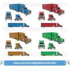 100 Semi Truck Clip Art Art Er Transport Mack Etsy