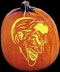 The Joker Pumpkin Stencil by Spookmaster Joker Pumpkin Carving Pattern Jack O Lantern