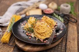 rezept spaghetti carbonara mit tiroler speck nudelgericht