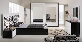 Bedroom Engaging Contemporary Black Mirrored Bedroom Furniture