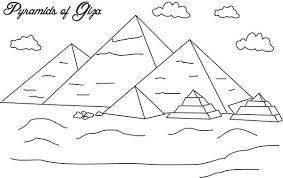 Pyramid Of Giza Coloring Page