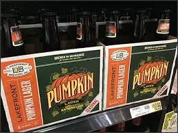 Lakefront Brewery Pumpkin Lager by Liquid Pumpkin As Lager Seasonal Promo U2013 Fixtures Close Up