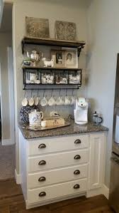 White Keurig Hobby Lobby Shelf With Hooks And Baskets Electric Kettle