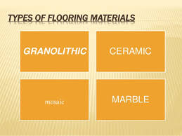 Types Of Flooring Materials by Ppt By Maruthish On Floors