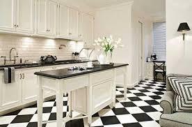 Black And White Tiles Kitchen Capitangeneral Decor