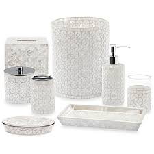 Mercury Glass Bathroom Accessories Uk by Palazzo Bath Accessories Set Bath Accessories Bathroom