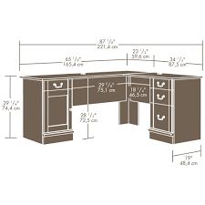 Sauder L Shaped Desk With Hutch by Sauder Palladia L Shaped Desk Best Home Furniture Decoration