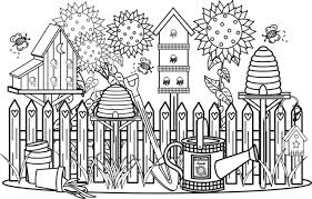 Garden Scene Coloring Page Greatest Book