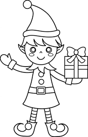 Free Elves Coloring Pages Aquadiso Pertaining To Christmas Elf