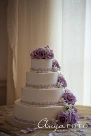 Tiered Wedding Cakes 2 Tier Wedding Cake with buttercream and Edible