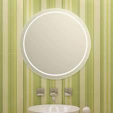 modena rundum design beleuchteter spiegel rund fürs bad