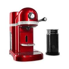 NespressoR By KitchenaidR With Milk Frother In Candy Apple Red