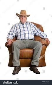 100 Cowboy In Rocking Chair Elderly Man Hat Sitting Stock Photo Edit Now 66091516