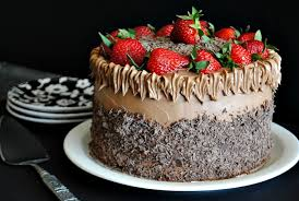 Chocolate cake with strawberries Suzanne made that