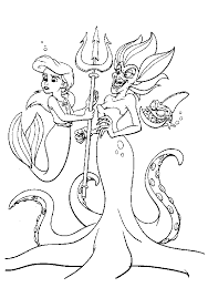 Interesting Design Ideas The Little Mermaid 2 Coloring Pages Ariel Arsetone