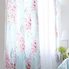 Pink Ruffled Window Curtains by Rose Curtain