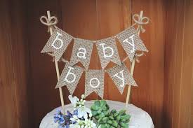 Baby Boy Cake Topper Banner Its A Shower Rustic Decor Announcement