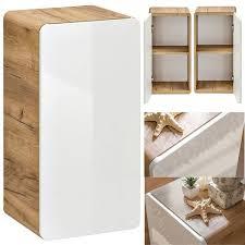badezimmer unterschrank hängend luton 56 hochglanz weiß mit wotaneich